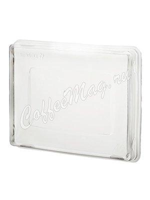 Бумажный контейнер с плоской пластиковой крышкой Crystal Box, Крафт 500мл 120*160*45 (50шт)