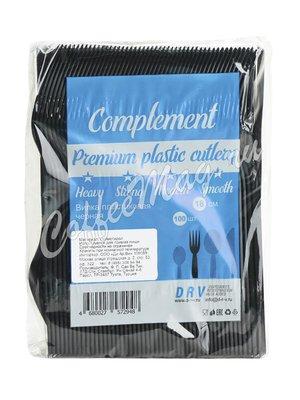Вилка пластиковая 18см черная Премиум Complement (50шт)