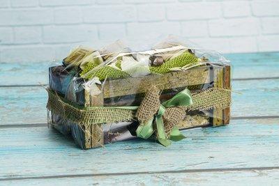 Подарочный набор в деревянном ящике Кофе