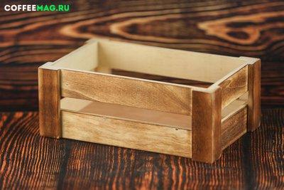 Ящик дерево орех 24х14х9 маленький