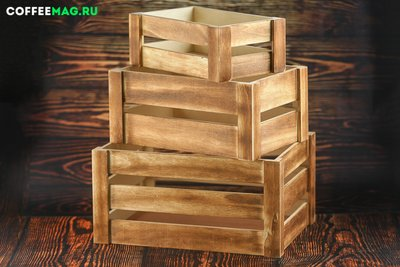 Ящик дерево орех 34х24х18 большой