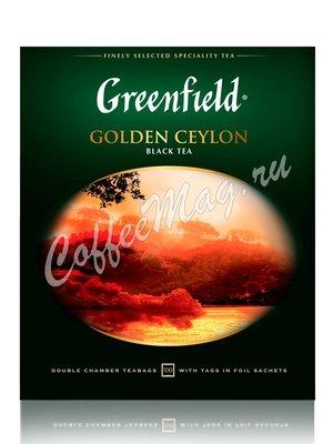 Чай Greenfield Golden Ceylon черный в пакетиках 100 шт.