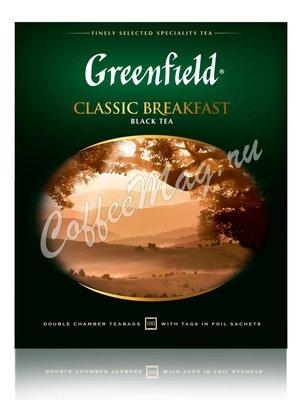 Чай Greenfield Classic Breakfast черный в пакетиках 100 шт.