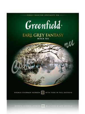 Чай Greenfield Earl Grey Fantasy черный в пакетиках 100 шт.