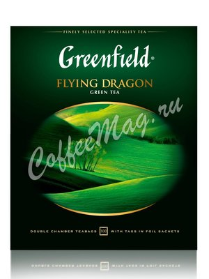 Чай Greenfield Flying Dragon зеленый в пакетиках 100 шт.