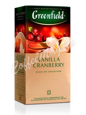 Чай Greenfield Vanilla Cranberry черный в пакетиках 25 шт.