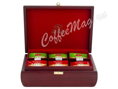 Подарочный набор Ти Тэнг в деревянной шкатулке. Чай черный и зеленый в пакетиках 144 г