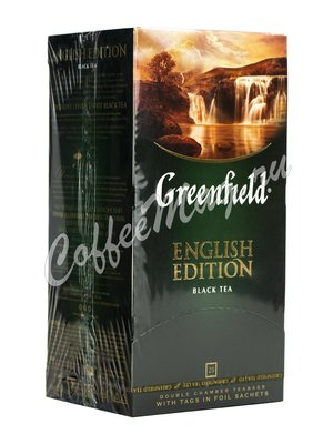 Чай Greenfield English Edition (Инглиш Эдишн) черный в пакетиках 25шт х 2 г.