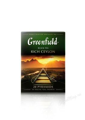 Чай Greenfield Rich Ceylon черный в пирамидках 20 шт.