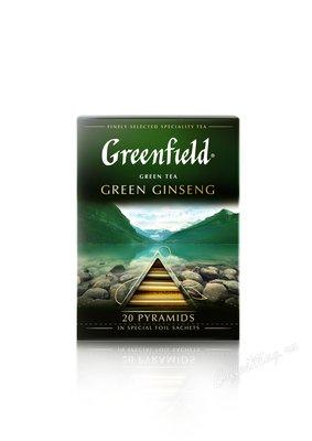 Чай Greenfield Green Ginseng зеленый в пирамидках 20 шт.