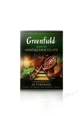Чай Greenfield Mint Chokolate черный в пирамидках 20 шт.