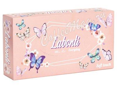 Labonti Платочки бумажные 100 шт 19х19 (розовая коробка)