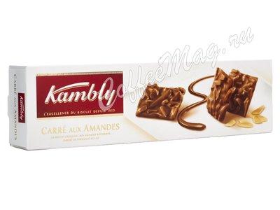 Kambly Carre aux Amandes Печенье с миндалем и молочным шоколадом 80 г