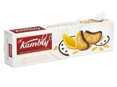 Kambly Orange Intense Печенье миндальное с апельсиновым кремом и шоколадом 100 г