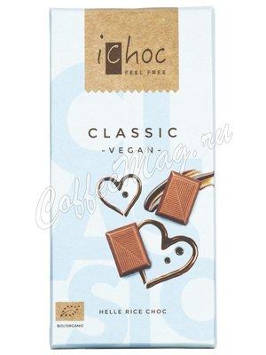 iChoc Шоколад органик веганский на рисовом молоке 37% какао 80 г