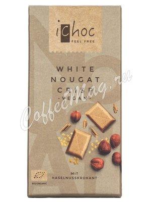 iChoc Шоколад органик веганский на рисовом молоке с нугой и карамелью 80 г