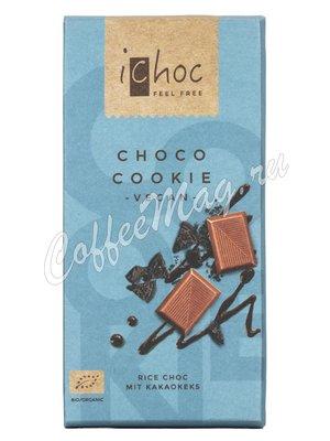 iChoc Шоколад органик веганский на рисовом молоке с шоколадным печеньем 80 г