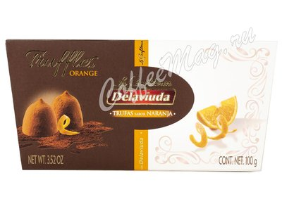 Delaviuda Шоколадные конфеты трюфели с апельсином 100 г