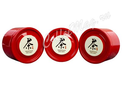 Набор подарочный Красный ларец, 3 банки 320*240*85 (OR-01)