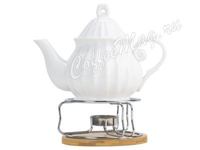 Чайник заварочный Эстет с подогревом на металлической подставке 700 мл 2859957.1