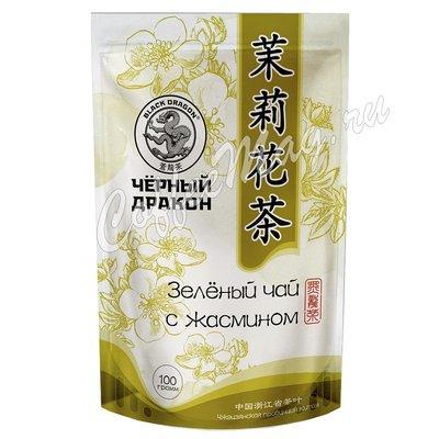 Чай Черный дракон Зеленый чай с цветками жасмина 100 г.