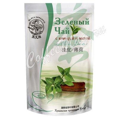Чай Черный Дракон Зеленый с корицей и мятой 100 г.