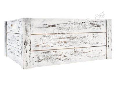 Ящик деревянный белый 41х33х18 большой