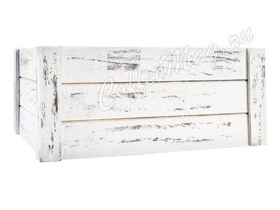 Ящик деревянный белый, средний