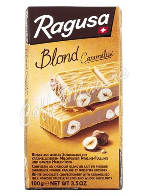 Ragusa Blond Белый шоколад с трюфельной начинкой и целыми орехами 100 г