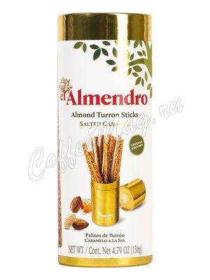 El Almendro Хрустящий миндальный туррон с солью (палочки) 136 г
