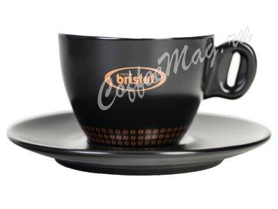 Чашка Bristot Ciao Black для капучино (черная) 150 мл
