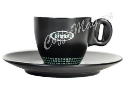 Чашка Bristot Ciao Black для эспрессо (черная) 60 мл