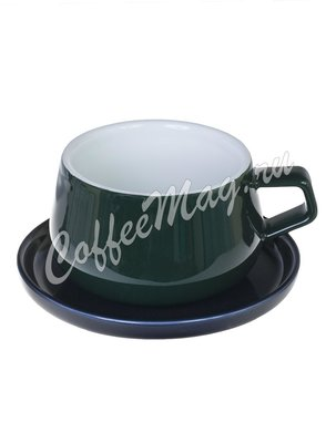 Viva Ella Чайная чашка с блюдцем 0,3 л (V79765) темно-зеленый