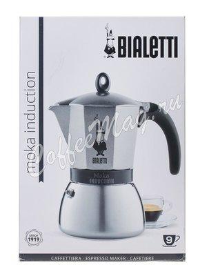 Гейзерная кофеварка Bialetti Moka Induction Antracite на 9 порций , серая (4879)