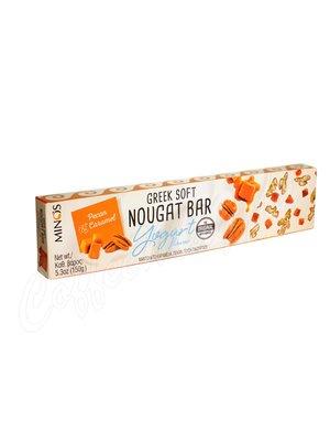 Мягкая нуга Minos с йогуртом, орехом и карамелью 150 гр