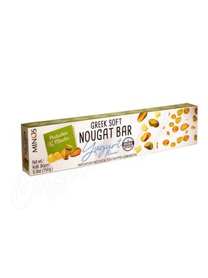 Мягкая нуга Minos с йогуртом, фисташками и мастикой 150 гр