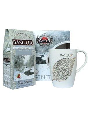 Basilur Чайный набор ВРЕМЕНА ГОДА Зимний чай 100 г и кружка