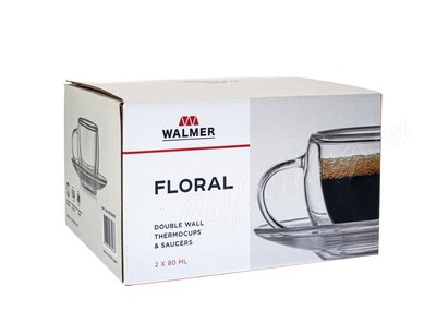 Набор из 2-х кофейных Walmer Floral пар 80 мл