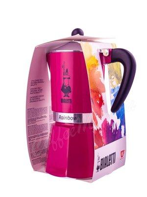 Гейзерная кофеварка Bialetti Rainbow на 6 чашек Фуксия (5013)