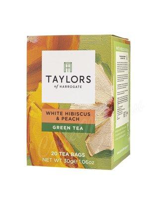 Чай Taylors of Harrogate пакетированный Белый гибискус и персик 20 шт
