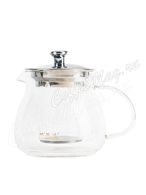 Чайник с колбой с металлической крышкой 500 мл (К-01)
