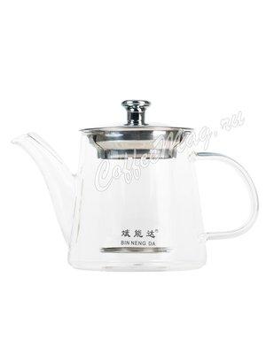 Чайник стекло Лилия 425 мл K-03
