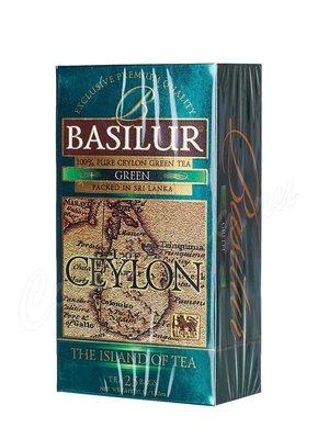 Чай Basilur Остров зеленый в пакетиках 25 шт