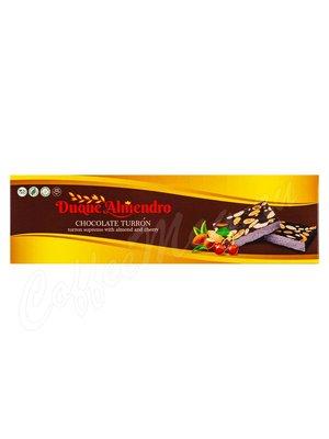 Duque Almendro Шоколадный Туррон с миндалем и вишней 100 г