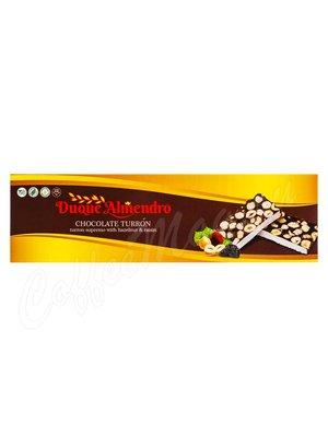 Duque Almendro Шоколадный Туррон с фундуком и изюмом 100 г
