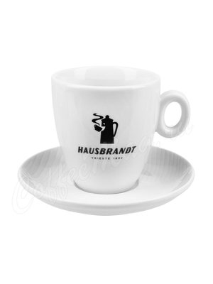 Чашка Hausbrandt латте (Черная надпись)
