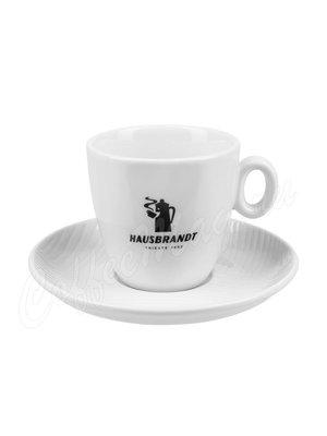 Чашка Hausbrandt капучино (черная надпись)
