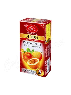 Чай Ти Тэнг Черный Маракуйя в пакетиках 20 шт