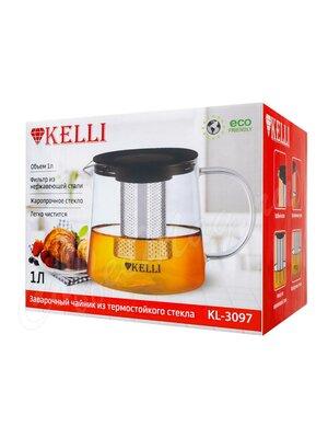 Чайник заварочный Kelly KL-3097 стекло 1 л