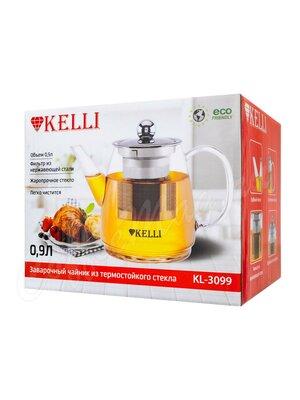 Чайник заварочный Kelly KL- 3099 стекло 0,9 л.